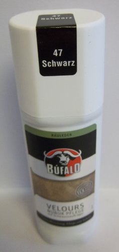 Bufalo Velours Nubuk Stic mit Auftragsschwamm 75ml Schwarz