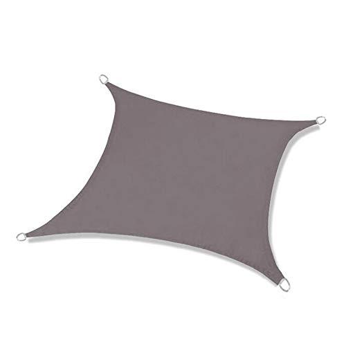WJQQ Toldo Vela de Sombra Rectangular, Vela de Sombra Poliéster con Kit Accesorios, 98% Rayos UV, Impermeable y Transpirable para Exterior Jardín Terrazas, 2 x 2 mGray