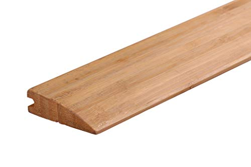 AMERIQUE AMVCRDPK2 12' Linear Pre-Finished Solid Vertical Carbonized Bamboo Reducer Molding, 72