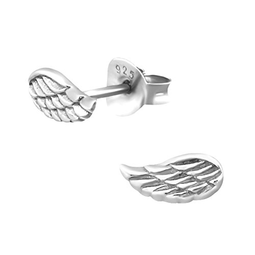 Tiny Angel Wing Earrings - Sterling Silver Gift