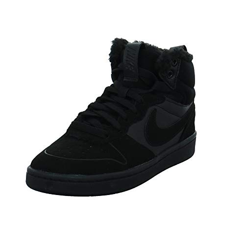 Nike Jungen Court Borough Mid 2 Boot Bg Sneaker, Black Black Black, 37.5 EU