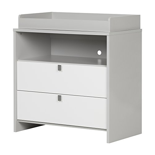 Best Buy! Cookie Changing Table, Soft Gray and Pure White