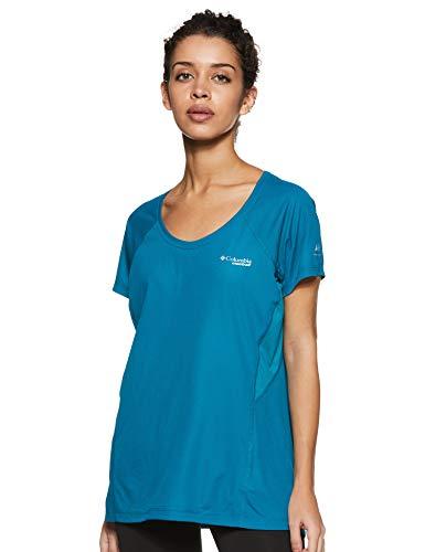 Columbia Titan Ultra II T-Shirt Femme, Bleu (Siberia), XL