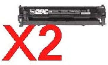 2 x Compatible HP CB540A Black Toner Cartridge 125A