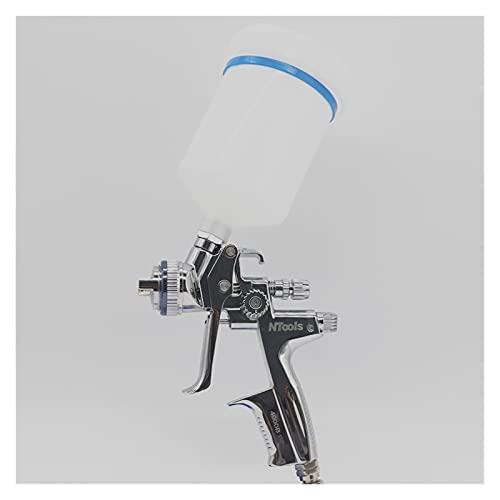 aerografo con compresor Pistola de Pintura de automóvil Pistola de pulverización de 1,3 mm Atomización de Alta atomización El último pulverizador de Gravedad (Color : Plata)