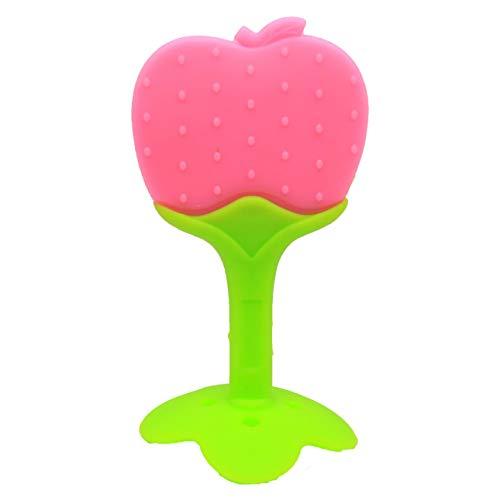 Ba30DEllylelly Juguetes para la dentición del bebé Mordedores de Frutas Naturales sin BPA de Silicona Suave con Clip / Soporte para Chupete para niños pequeños