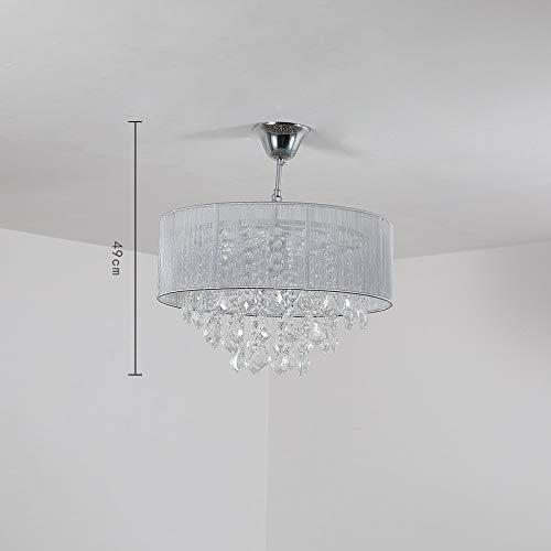 Saint Mossi Moderne K9 Kristall Regentropfen Kronleuchter Beleuchtung Unterputz LED Deckenleuchte Pendelleuchte für Esszimmer Badezimmer Schlafzimmer Wohnzimmer Breite 43 x Höhe 27 cm - 8