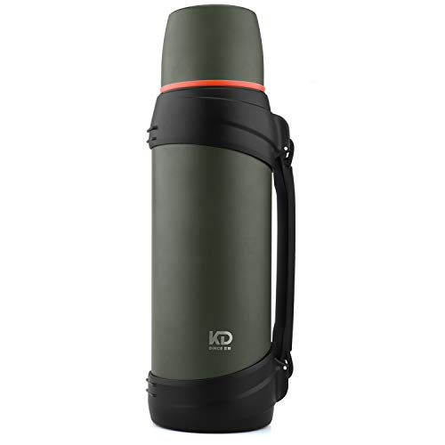 OKADI Large Coffee Thermos for Travel - 85oz Vacuum Insulated Bottle with Plastic Cup - Stainless Steel Double-Wall Vacuum Insulated Technology
