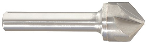 Morse Cutting Tools 56133 Chatterless Countersinks, Solid Carbide, Bright Finish, 60 Degree Split Point, 6 Flutes, 3/8