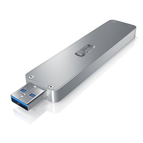 CSL - SSD Festplattengehäuse für M.2 Festplatten - USB 3.0 Case auf M2 Adapter NGFF - 1x M.2 Key B - m.2 Schnittstellen-Standard NGFF - Module 2230 2242 2260 2280 - UASP Unterstützung