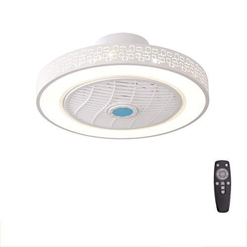 AWISAWIS Leise Deckenventilator mit Beleuchtung, Fanlampe Einstellbare Windgeschwindigkeit, Mode Kreative Acryl LED Deckenleuchte für Garage, Lager, Werkstatt, Küche