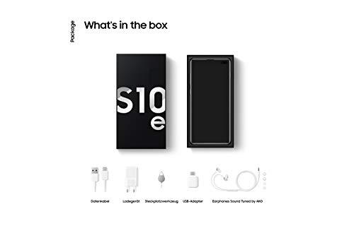 Samsung Galaxy S10e Smartphone Bundle (14.7cm (5.8 Zoll) 128 GB interner Speicher, 6 GB RAM, Dual SIM, Android, prism black) inkl. 36 Monate Herstellergarantie [Exklusiv bei Amazon] Deutsche Version