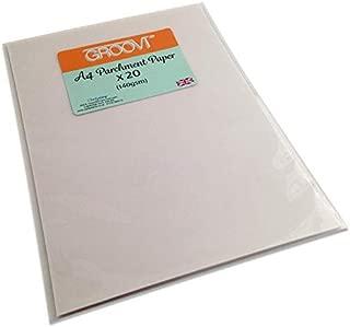 Groovi Parchment Paper A4 x 20 Sheets for Parchment Craft 140gsm