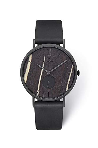 KERBHOLZ Holzuhr – Elements Collection Fritz analoger Unisex Multifunktions Uhr, Naturholz Ziffernblatt,...