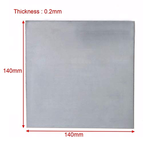 Without brand SSB-JIAODAI, 5pcs High Purity 99,9% reines Zink-Blech 140x140x0.2mm Durable for Werkzeuge Science Lab