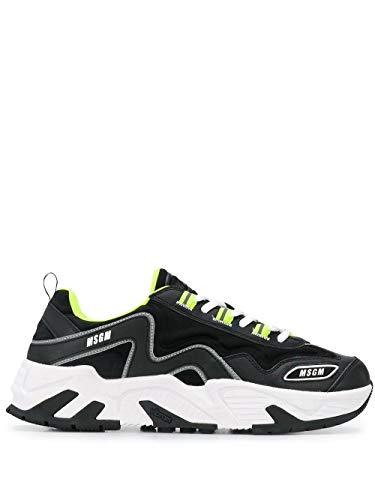 MSGM Luxury Fashion Herren 2840MS700114099 Schwarz Leder Sneakers | Jahreszeit Outlet