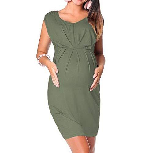 iLPM5 Frauen Mutterschaft Plus Größe Halbe Hülse Beiläufige Reizvolle Asymmetrie Rand Lose Minikleid Schulterfrei Kleid Schwangere Pflege Kleid Elegantes Kleid Fotografie Requisiten