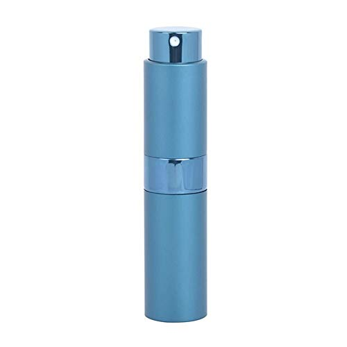 Flacon 1pcs De Haute Qualité 15ML Mini Aluminium Parfum Bouteille Vide Remplissage Parfum Spray Atomiseur Bouteille Rotary (Color : Blue, Material : Metal)