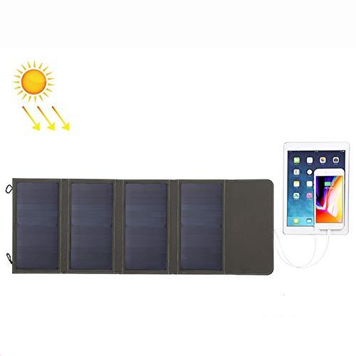 WNTHBJ 28W in de vrije ruimte bergbeklimmen High Power Solar, opvouwbare USB-bekleding, powerbank, familiereis (2 stuks)