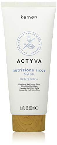 Kemon Actyva Nutrizione Ricca Mask - intensiv pflegende Haar-Maske für sehr trockene Haare, feuchtigkeitsspendende Haar-Kur - 200 ml