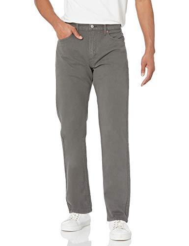 Levi's 505 Pantalones vaqueros de corte regular para hombre - Gris - 42W x 30L