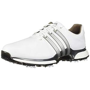 adidas Men's TOUR360 XT Golf Shoe, FTWR White/Silver Metallic/Dark Silver/Metallic, 9 M US
