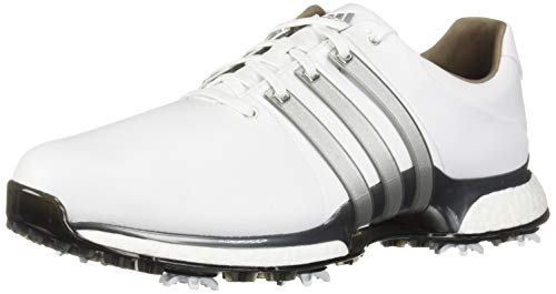 adidas Men's TOUR360 XT Golf Shoe, FTWR White/Silver Metallic/Dark Silver/Metallic, 11 M US