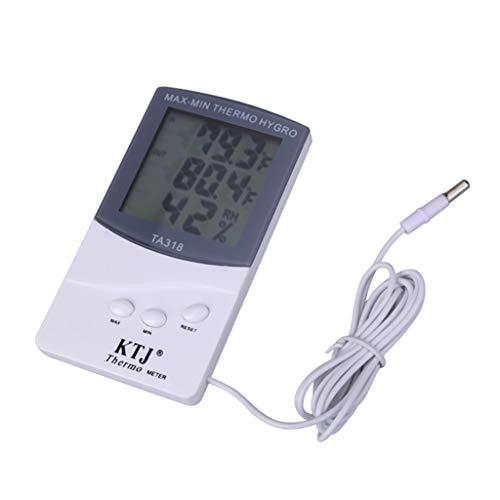 YWSZJ Termometri Interni ed Esterni Termometri elettronici Domestici e igrometri Temperatura a Grande Schermo e misuratori di umidità con sonde