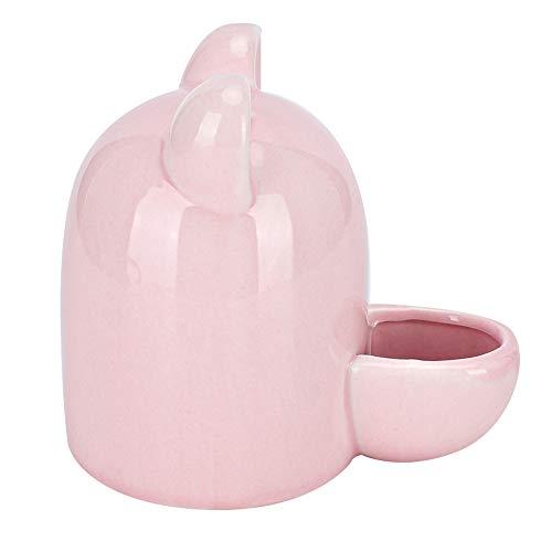 Goick Bebedero de cerámica para mascotas-250ml Bebedero de cerámica para Mascotas Bebedero para hámster silencioso Erizo Ardilla Fuente para Beber