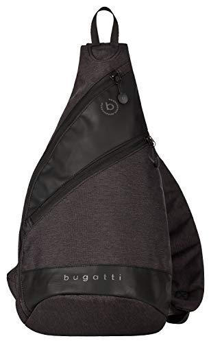 Bugatti Universum Sling Bag Herren - Crossbag Sportliche Brusttasche für Männer - Crossbody Crossover Tasche, Schwarz