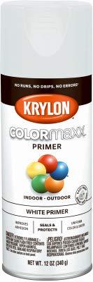 Krylon Diversified Brands K05584007 COLORmaxx Spray Primer, White, 12-oz. - Quantity 6