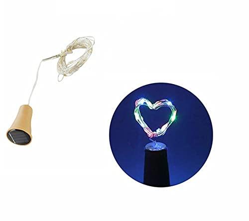 DANSHEN Cadena de luces de corcho, luz de botella con corcho, cadena de luces LED para botellas, luces de ambiente, botella de vino, alambre de cobre para fiestas DIY