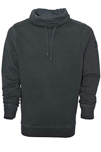 Kitaro Sweatshirt Sweat Schalkragen Vintage Herren Langarm Extra Lang Tall, Farbe:anthrazit, Herrengrößen:4XT