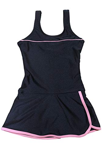 [グロウンチャーム] スクール水着 女子 ワンピース インナー付き UVカット skl3009swlop-w ピンク 130cm