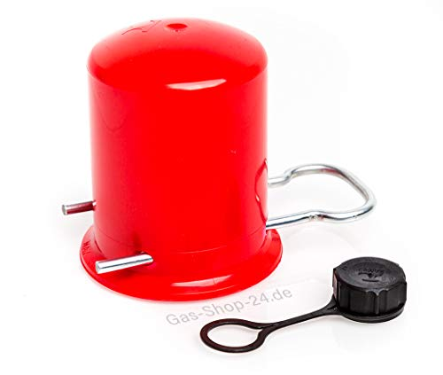 Schutzkappe - Kappe für 2kg, 3 kg, 5kg und 11kg Propangasflasche/Gasflasche mit Verschlussmutter für Flaschenventil/Ventil (Propan)