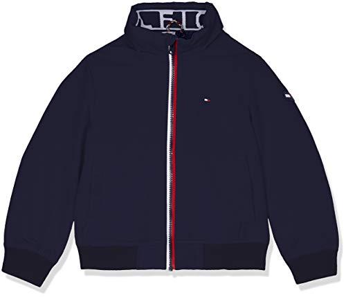 Tommy Hilfiger Jungen DG Essential Jacket Jacke, Blau (Black Iris 002), 128 (Herstellergröße: 8)