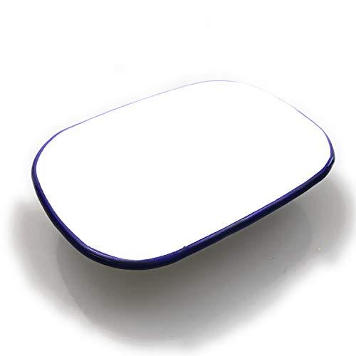 Kerafactum witte emaille muesli kom servies van de rand blauw schaal voor camping emaille ovenbestendig kom in set uitbreidbaar als kleine slakom soepkommen XL