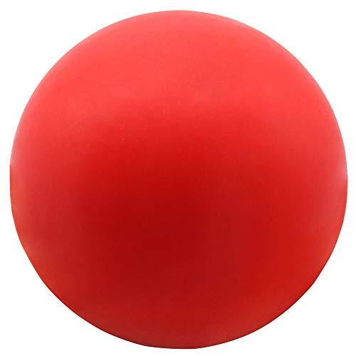 Vivifying Unzerstörbarer Hundeball, Elastisch Ball aus Natürlichem Gummi, zum Fangen, Herbeiholen und Werfen (Rot)