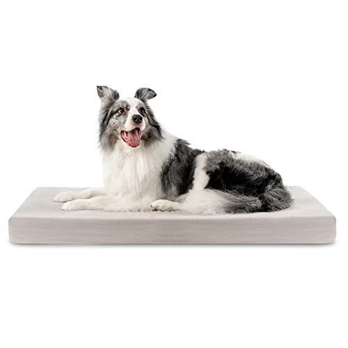 ZENAPOKI Cama para Perros Ortopédica XL - Cojines para Perros Espuma con Memoria - Cesta Perro Gel Regulador de Temperatura - Manta Removible Resistente al Agua Lavable en Lavadora