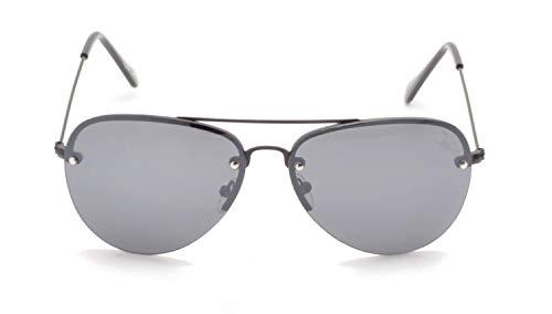 Desire SunnySky Gafas de sol de color negro de PET reciclado, UV400, con espejo, para hombre y mujer, montura negra