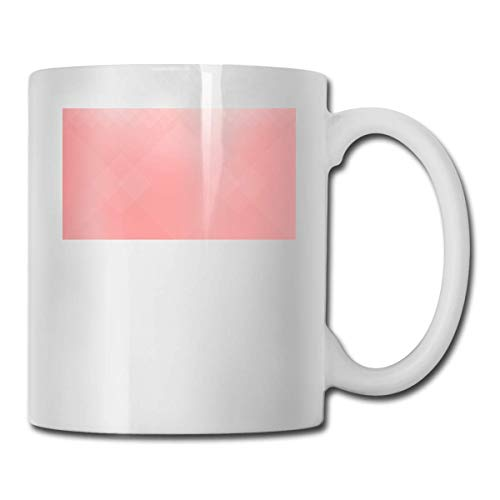 Taza de color coral de la personalidad de la taza de café del agua del té de la bebida de 11 oz