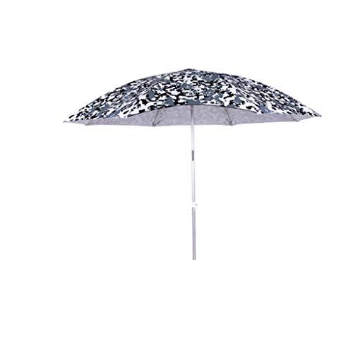 Camouflage Outdoor Angeln Regenschirm 2,2 Meter Universal Regen Klapp Angeln Regenschirm 2,4 Meter Angeln Regenschirm Sonnenschirm/Sonnenschirm (Farbe : Einzelne Schicht, größe : 2m)