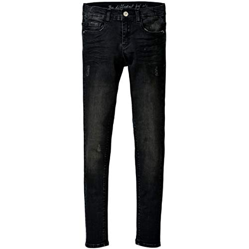 Staccato Mädchen Jeans Kate - Slim Fit - Skinny Stretch - Black Denim - 5-Pocket-Style - Casual Größe 140