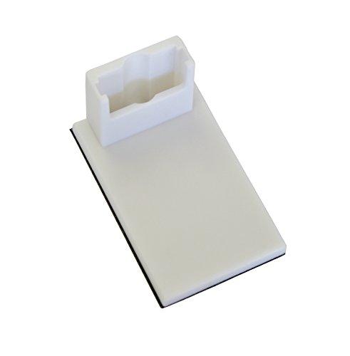 Gardinia Klebeträger für Easyfix Plissees mit 2 Bedienschienen, 4 Stück, Kunststoff, Weiß