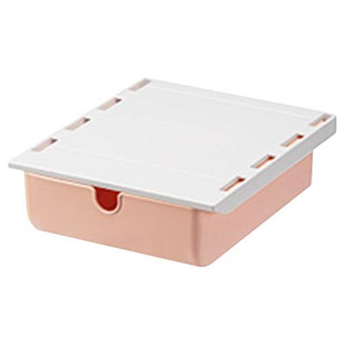 Bajo la caja de almacenaje de cajón de escritorio para almacenamiento de escritorio oculto, instalación sin clavos y almacenamiento inteligente, la carga del producto no supera los 2 kg