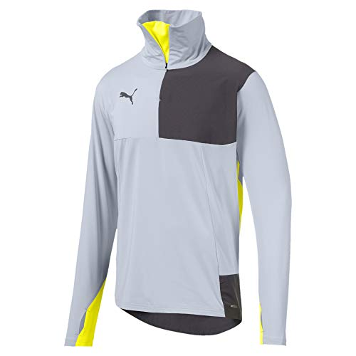 PUMA Ftblnxt 1/4 Zip Top Sudadera, Hombre, Gris (Grey Dawn/Yellow Alert), 3XL