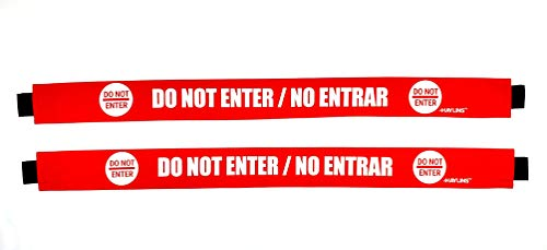 Haylins Do Not Enter Sign with Magnetic Ends English and Spanish Door Barricade Barrier (2 Pack)