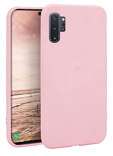 MyGadget Funda para Samsung Galaxy Note 10 Plus en Silicona TPU - Carcasa Slim & Flexible - Case Resistente Antigolpes y Antichoques - Ultra Protectora Pink