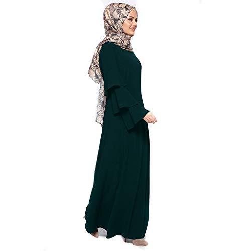 LILICAT Casual Kleider Robe Frauen Muslim Lose Einfarbig Rock Kleidung Abaya Islamischer Arabischer Kaftan Dubai Langes Maxi Kleid Frühling-Sommer Slim Fit Abendkleider