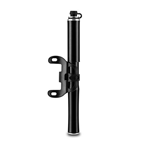 Bomba De Bicicleta, Minibomba Portátil para Neumáticos De Bicicleta - Se Adapta A Presta & Schrader, Bomba De Aire De Alta Presión para Bicicletas De Montaña De Carretera,Negro